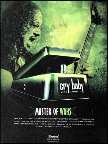 Metallica Kirk Hammett Signature Cry Baby Wah Guitar Effects Pedal advertisement