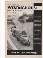 Pubblicità 1938 Wastinghouse Freni Autotreni Advert Werbung Publicitè Reklame -  - ebay.it