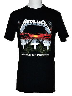 Metallica Master Of Puppets T Shirt Heavy Metal Graphic Tee Black Preshrunk Nwt