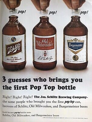 60s Vintage Schlitz advertising Alcohol Beer Archival Poster Print Ad