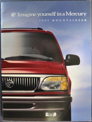 1997 Mercury Mountaineer SUV Large Catalog Sales Brochure Excellent Original 97