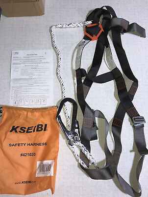 Kseibi 421020 Safety Fall Protection Kit Full Body Harness 6 Shock-absorbing