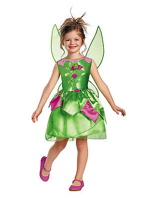 Tinkerbell Costume for Toddler and Girls w/Wings New by Disguise 59100 (Tinkerbell Costume For Toddler Girl)