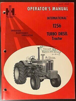 International Harvester Ih 1256 Turbo Tractor Operator Manual 1968 Original