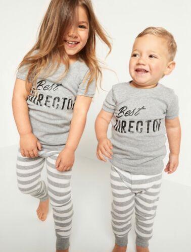 Old Navy Toddler Girl Boy ~ 2 Piece Pajama Set ~ Best Director Size 18-24M - 5T