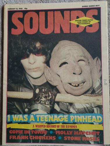Sounds magazine fanzine Jan 1985 Ramones on cover  RARE