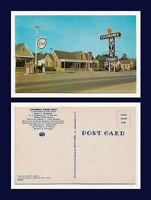 US TENNESSEE NEWPORT EISENHOWER MOTOR COURT AND ESSO SERVICE STATION CIRCA 1958