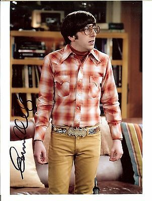 Simon Helberg Autograph Signed 8X10 Photo Uacc Coa Big Bang Theory