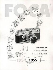 publicite advertising ad appareil photo foca 1954 ebay. Black Bedroom Furniture Sets. Home Design Ideas