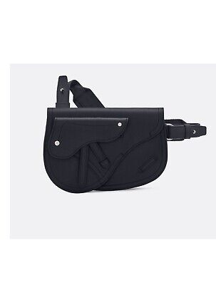 Dior Black Saddle Calfskin messenger & Belt Bag Dior Messenger Bags