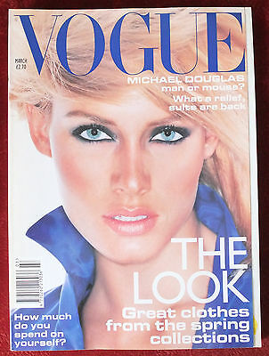 Vogue British   March 1995   Amber Valletta Yasmeen Ghauri Bridget Hall