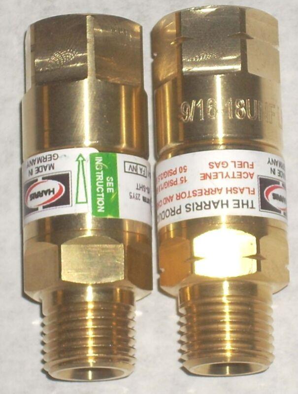 Harris Calorific Oxygen Acetylene Torch Flashback Arrestor Set