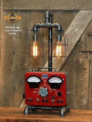 Steampunk Industrial Machine Age Lamp Sun Automotive Volt Meter Light Automobile