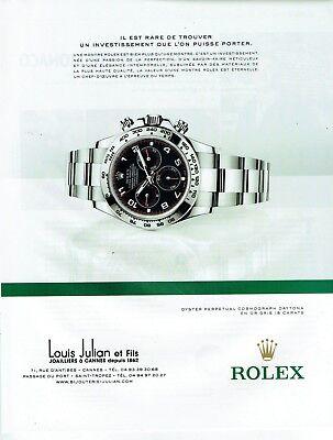 Publicité Advertising 019  2013  la montre Rolex oyster cosmograph daytona