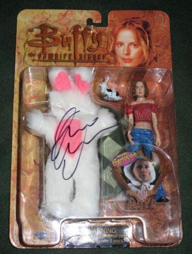 Rare EMMA CAULFIELD signed Autographed BUFFY THE VAMPIRE SLAYER ANYA FIGURE COA
