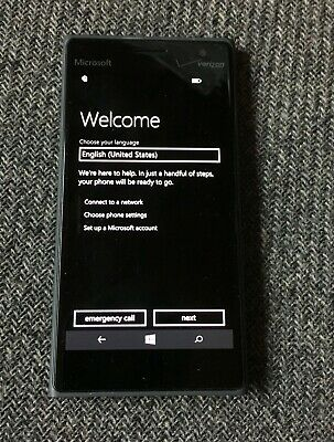 Microsoft LUMIA 735 Unlocked 16GB VERIZON BLACK Windows 10 Mobile Nokia