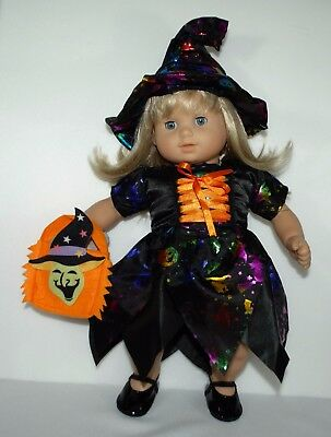 Halloween costume dress hat bag for 15