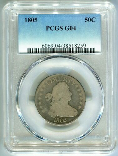 1805 DRAPED BUST SILVER QUARTER PCGS GOOD 4 low mintage