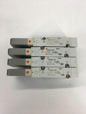 Smc Sv2100-5fu Solenoid Valve Lot Of 4