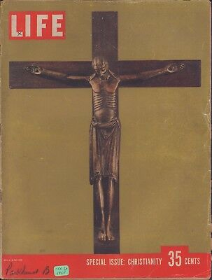 (LIFE December 26,1955 The Great Werden Crucifix / Billy Graham / Protestantism)