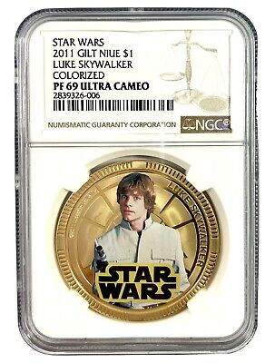 New Sealed Obi-Wan Kenobi Silver Plated Coin in Card 2011 Niue $1 Star Wars