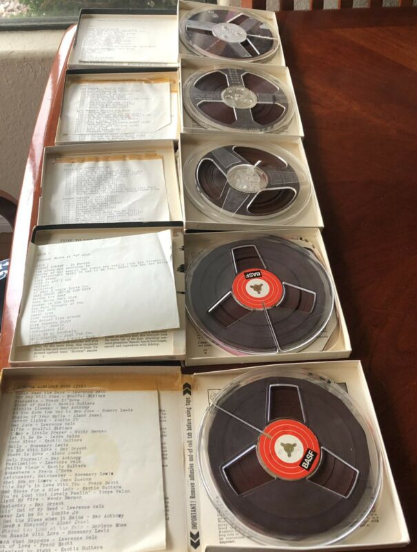 Reel to Reel Tape Tape Lot of Pre-recorded Music 1960s Jazz Pop Romantic Hits