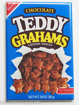 Chocolate Teddy Grahams FRIDGE MAGNET (2 x 3 inches) bears box cookies crackers