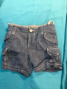 Baby Gap chambray cargo shorts. Size 18-24 mths