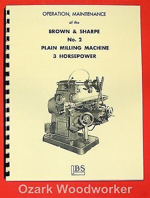 US BURKE No.4 Horizontal Milling Machine Instructions /& Parts Manual 0880