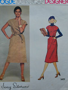 Vintage-Vogue-American-Sewing-Pattern-Jerry-Silverman-Ladies-Dress-Size-14