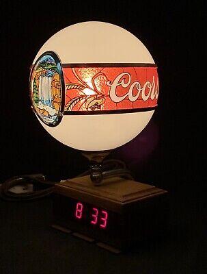 *Vintage COOR'S Beer Advertising Back Bar Lamp Clock Sign Register Globe Light