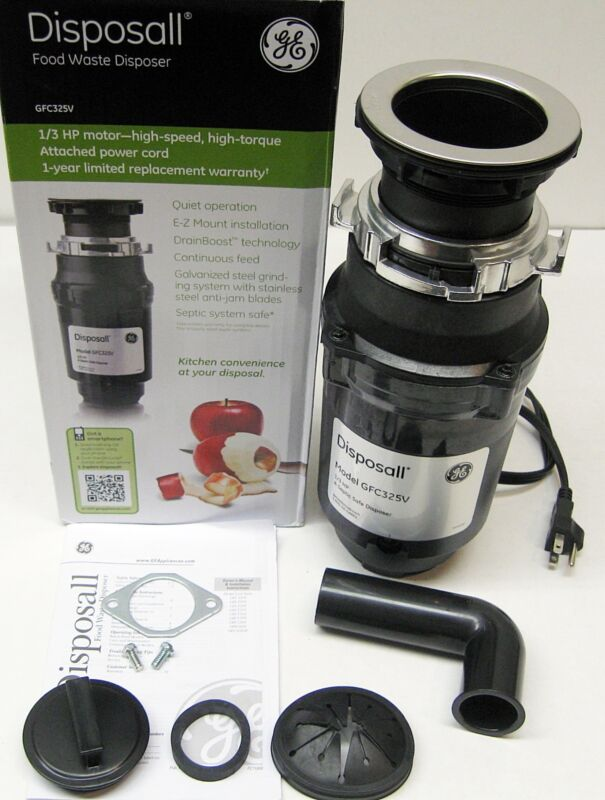 GFC325V GE Disposall Garbage Food Waste Disposer 1/3 HP With Cord