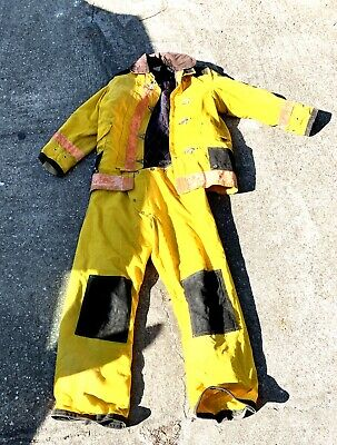 Lion Firefighter Turnout Bunker Gear Jacket 123500 Pants 38 X 32 Fireman
