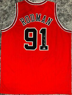 0d00b0189a7 Chicago Dennis Rodman Signed Red Jersey Auto - BAS Beckett