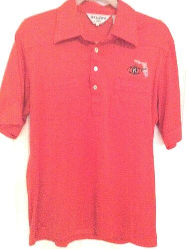 Vintage Kiwanis Florida Orange Shirt Nologo Brand Polyester Large Collectible