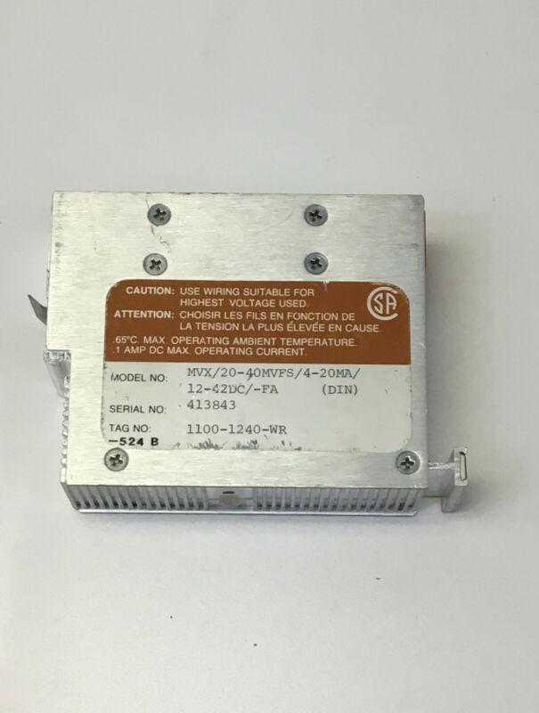 Moore  MVX/20-40MVFS/4-20MA/12-42DC/-FA Millivolt Transmitter