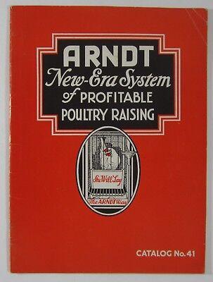 Vintage Poultry Catalog Raising Chickens Egg Hens Equipment Arndt Trenton Nj