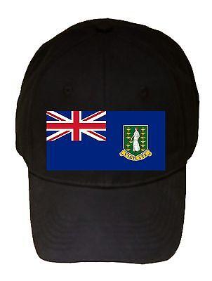 British Virgin Islands World Country National Flag Black Adjustable Cap Hat New ()