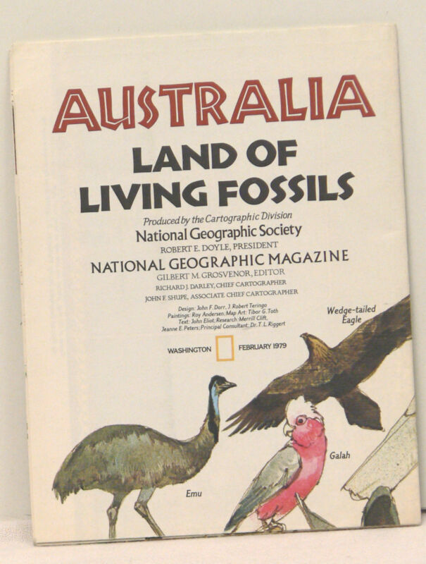 Vintage 1979 National Geographic Map of Australia