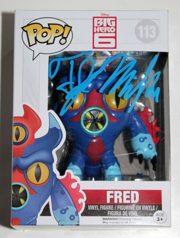 TJ MILLER SIGNED FRED BIG HERO 6 FUNKO POP VINYL FIGURE DISNEY FRED ZILLA +COA