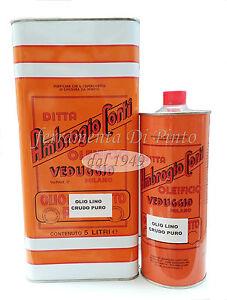 Olio di lino crudo tocchetti lt 5 trattamento cotto for Olio di lino crudo