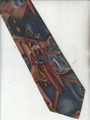 New 1930s Mens Fashion Ties Rare-1930s Mens Fashion-[Comoborghi]-100% Silk Tie-Made In Italy-62-Men's Tie $38.61 AT vintagedancer.com