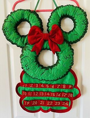 Disney Parks Mickey Mouse Christmas Advent Calendar Wreath With Ornaments