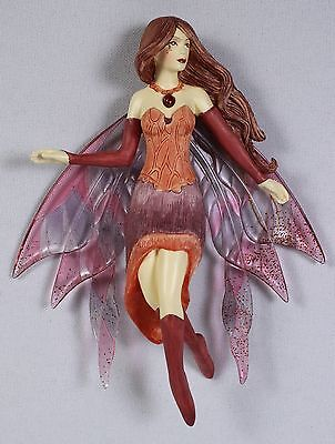 Garnet Fairy Ornament Jessica Galbreth NEW Fantasy Art Figurine Decoration Angel