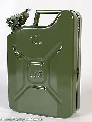 Benzinkanister 10 Liter aus Stahlblech - Metallkanister für Kraftstoff 10 L