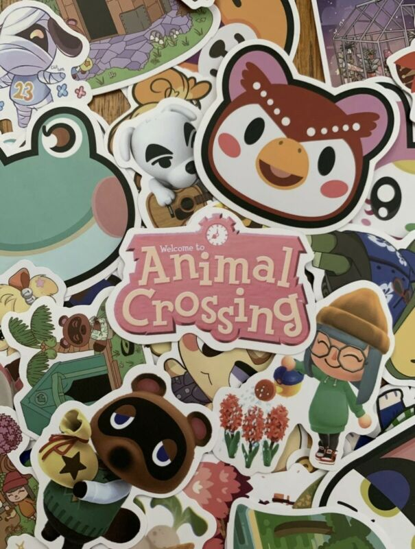 Animal Crossing 25 PC High Quality Nintendo Decal Stickers (USA SELLER)