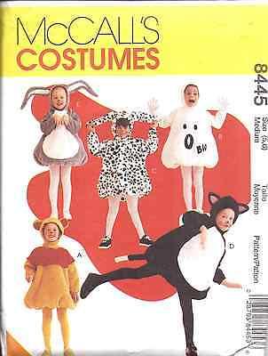 8445 Uncut Mccalls Nähen Kostüm Muster Ghost Bär Kaninchen Dalmatiner Halloween