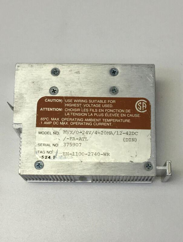 Moore Industries MVX/0-24V/4-20MA/12-42DC/-FA-ATL Pressure Transmitter