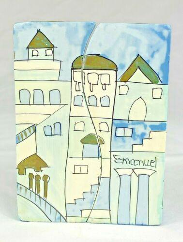 Yair Emanuel Candle Stick Holders Jerusalem City Hand Painted