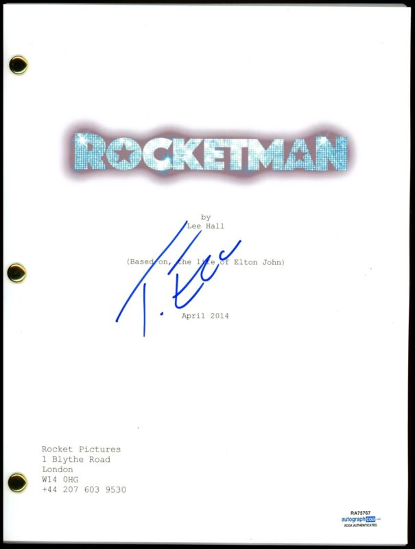 "Taron Egerton ""Rocketman"" AUTOGRAPH Signed Full Complete Script Screenplay ACOA"